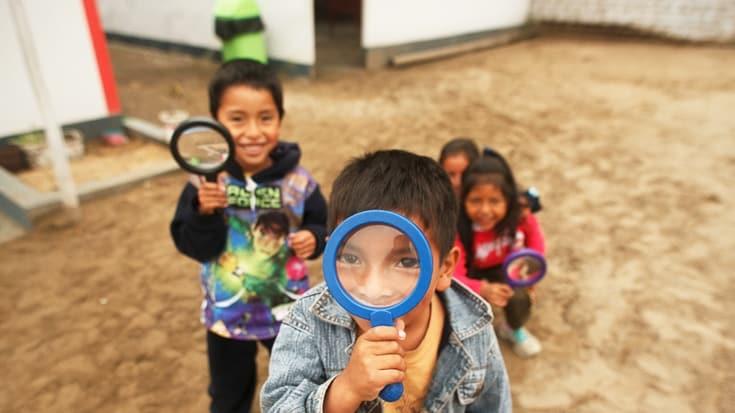 Escuela pública en Manchay, Lima.